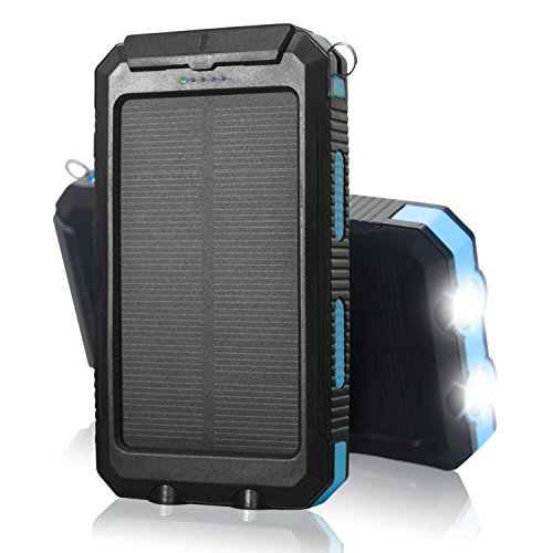 Bsamz 10000mah Solar Charger Dual Usb Port Solar Power